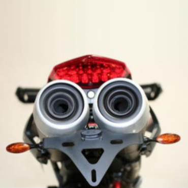 Support de plaque Ducati 796 Hypermotard / 1100 Hypermotard Noir - RG RACING